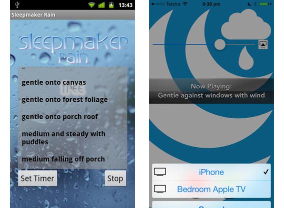 Sleepmaker Rain screenshot combo