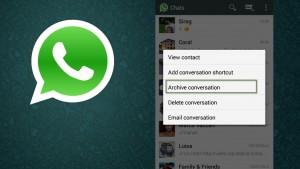 WhatsApp beta per Android: ora puoi archiviare le conversazioni