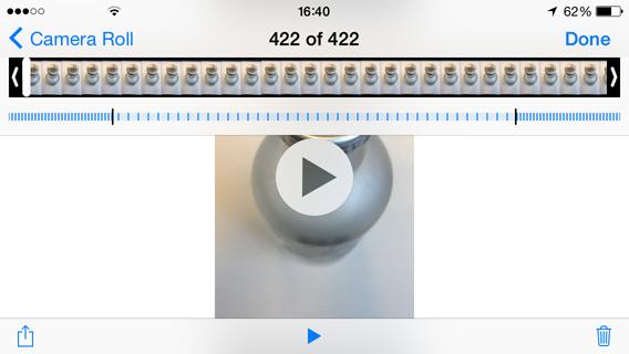 iOS Camera - SloMo