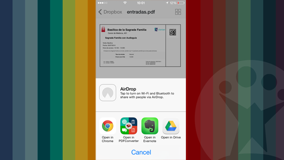 Apri con in iOS 7