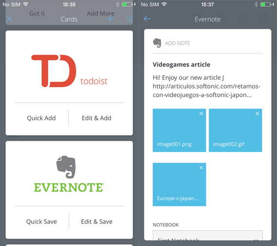 CloudMagic - Addon e Evernote