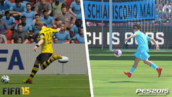 FIFA vs PES - animações