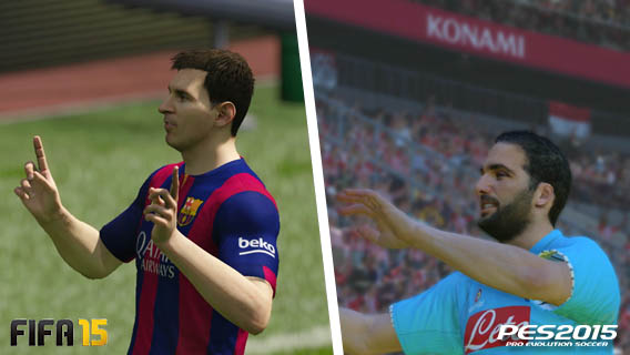 FIFA vs PES - expressions des joueurs