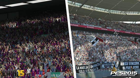 FIFA vs PES - le stade
