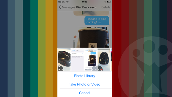 iOS 8 Messages photo library