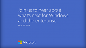 Il nuovo Windows si mostra il 30 di Settembre a San Francisco