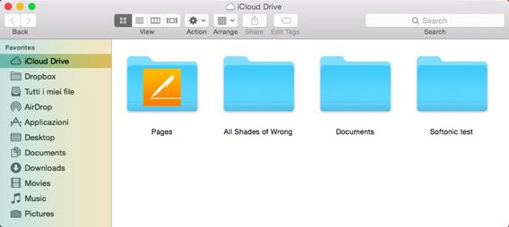 iCloud Drive su OS X Yosemite