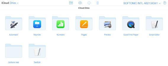 iCloud folder sul browser