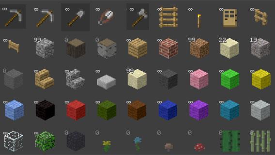 Minecraft: l'inventaire des matériaux