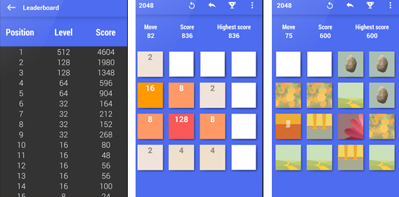 2048 Material Design screenshot