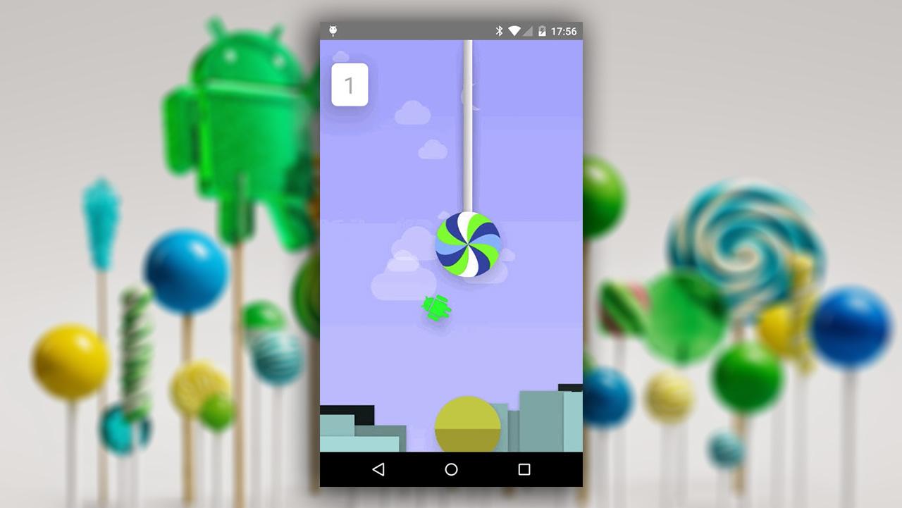 Scoperto l'Easter Egg di Android 5.0 Lollipop: un clone di Flappy Bird!