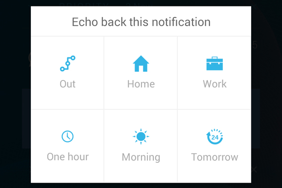 Echo Notification Lockscreen - postpone notification