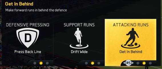 FIFA 15 attacking runs