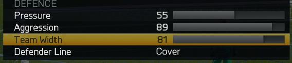 FIFA 15 team width