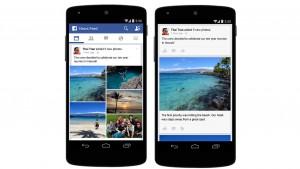 Facebook rende più facile condividere foto da cellulare. Nuovo layout