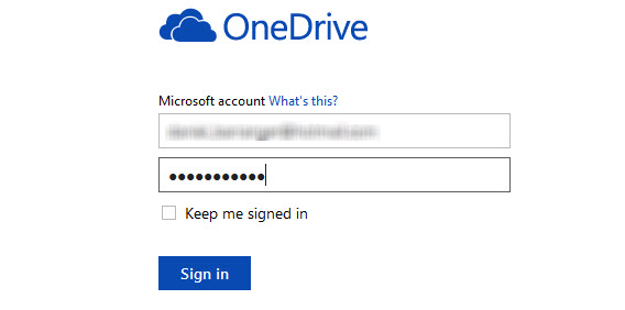 Login OneDrive