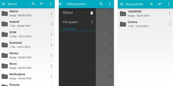 Sliding Explorer screenshot