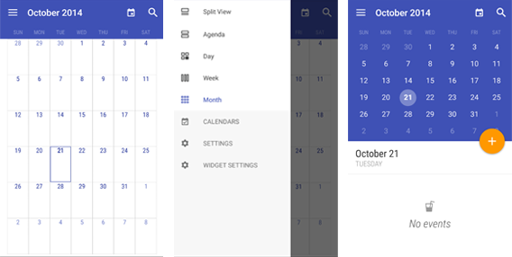 Today Calendar screenshot