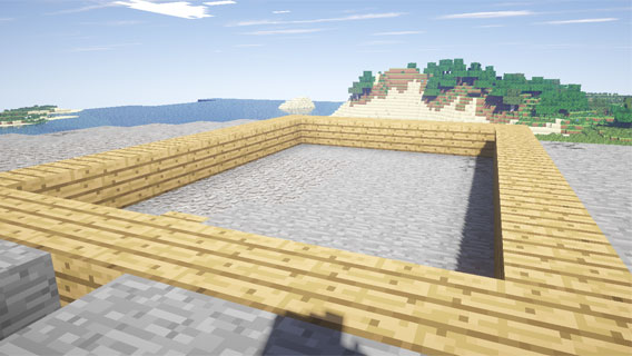 Grundstein legen in Minecraft