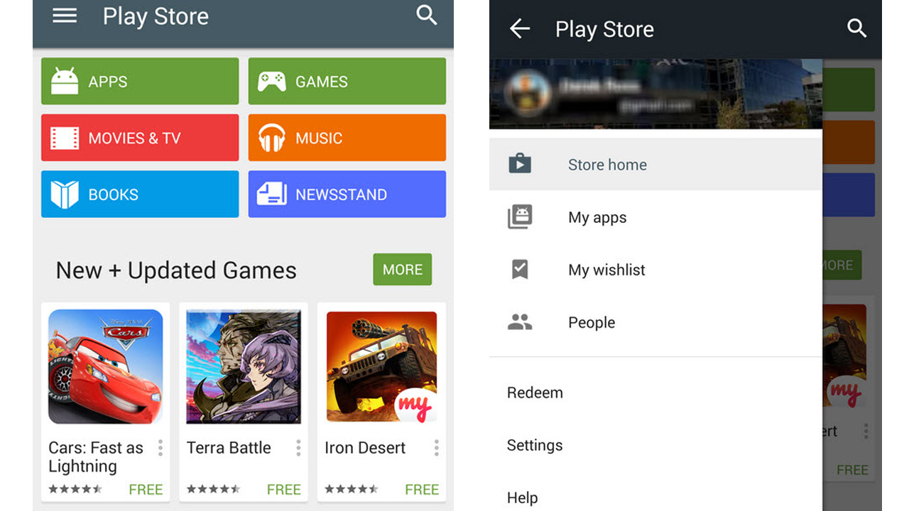 Google Play Store 5.0 con Material Design: inizia il rilascio ufficiale