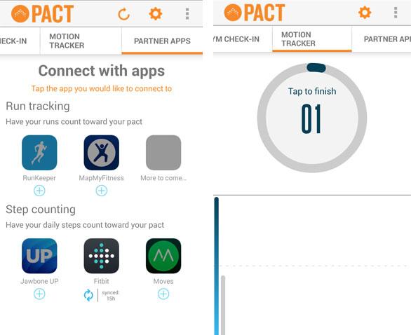 Pact permite conexão com vários apps de exercícios