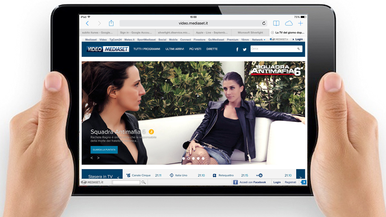 video mediaset ipad