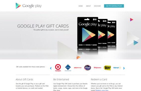 Wyślij prezent google play store