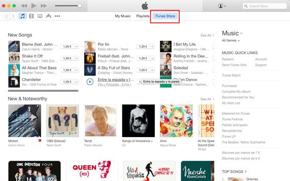 Accédez à iTunes de votre PC ou Mac