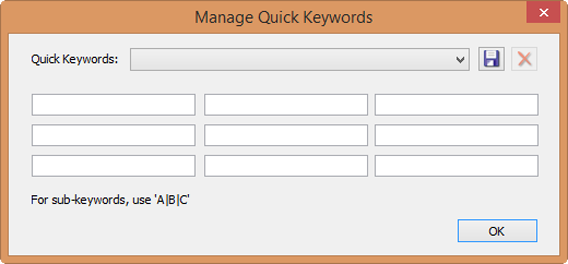 ACDSee Quick keywords