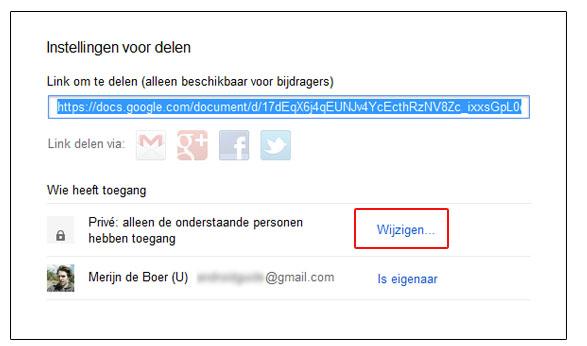 Hoe deel je een Google document met mensen zonder Gmail?