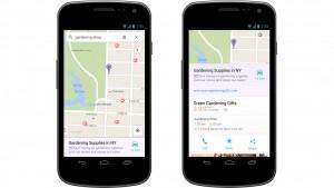 Google Maps toont betaalde resultaten tussen zoekopdrachten