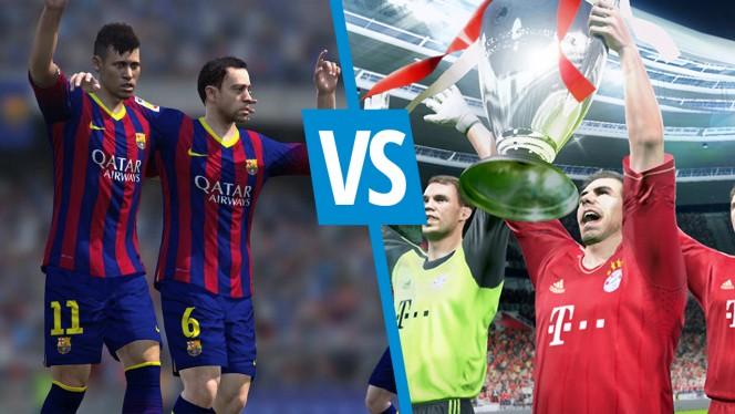 PES 2014 versus FIFA 14