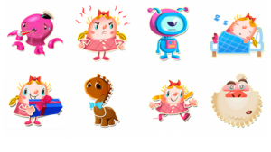 Candy Crush Saga stickers voor Facebook