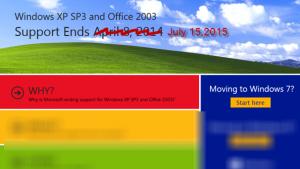 Windows garandeert de veiligheid van Windows XP tot juli 2015