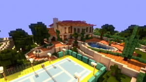 Michael's huis uit GTA V nagemaakt in Minecraft (video)
