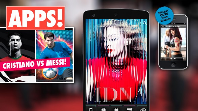 Messi, Kim Kardashian, Madonna... Geniet van de beste celebrity-apps!