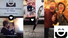 カメラの向こうとこっちを1枚にするiPhoneカメラアプリFrontback 日本語対応でブームの兆し!?