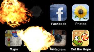 エイプリルフールだ!iPhoneのホーム画面を爆破しよう!