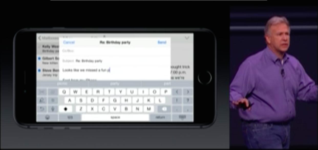 iOS8、9月17日に提供開始 iPhone4S以降に対応  電子決済システム搭載、横画面操作・入力が可能に