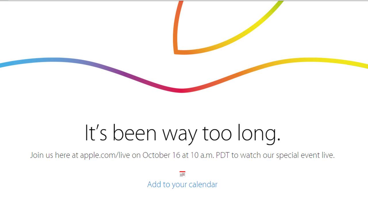 Apple16日に「スペシャルイベント」を開催 ライブストリーミング視聴可能