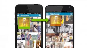 写真をスワイプするだけでスマホ間共有 Android⇔iOSも対応