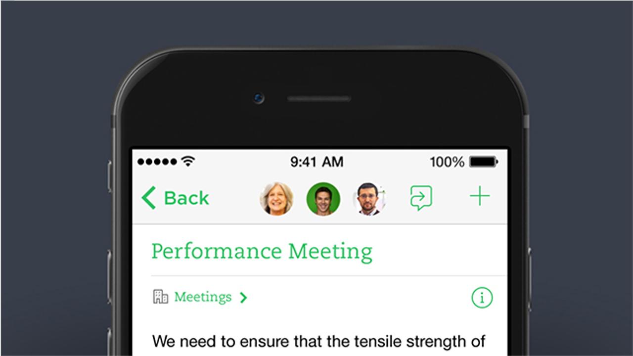 Evernoteにチャット機能が追加 コラボ作業と会話が1ヶ所で可能に