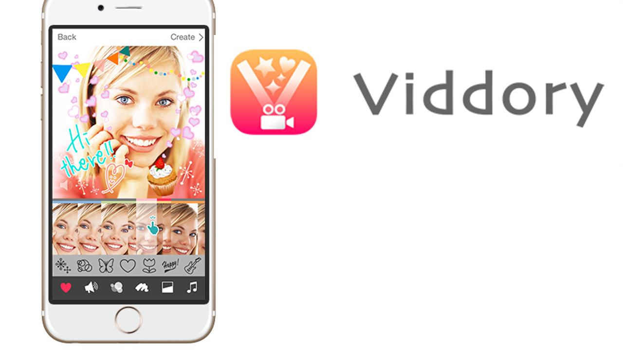 動画をプリクラ風にデコるアプリ「Viddory」 手書きやスタンプでビデオもキラキラに