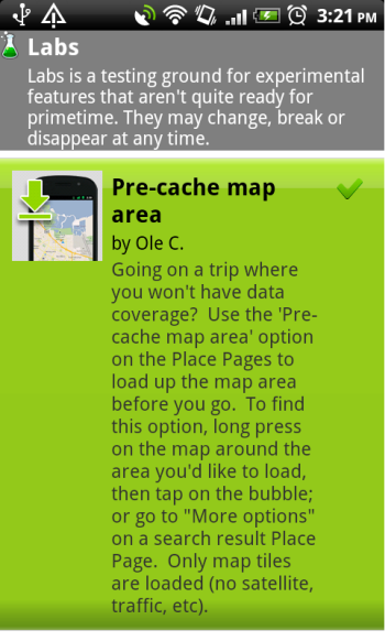 how to download area in google maps android