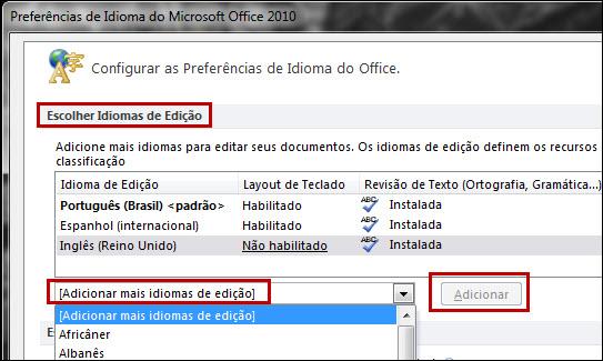 Como mudar o idioma do office 2010