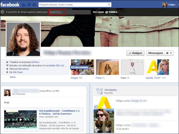 Aumentar a foto do perfil do facebook