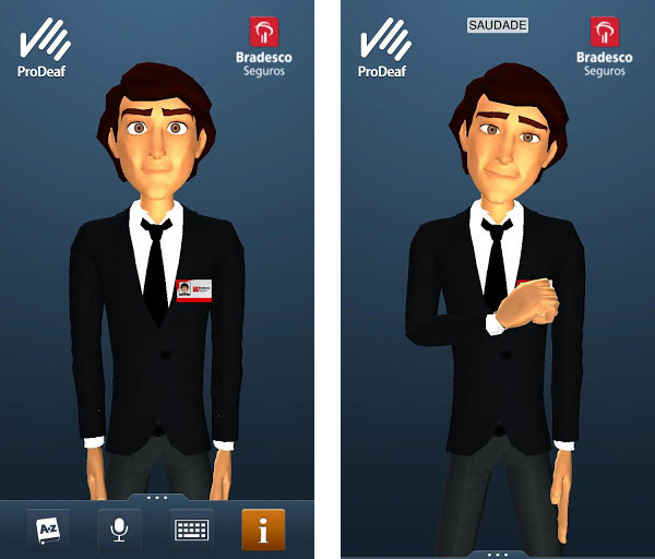 ProDeaf faz tradução em tempo real para a linguagem dos sinais