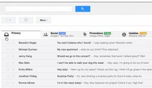 Novo Gmail organiza e-mails recebidos por abas