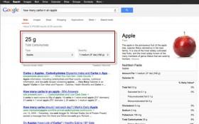 Busca do Google agora mostra valor nutricional de alimentos