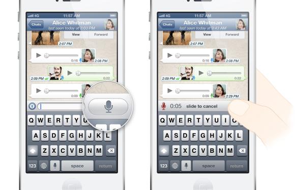 Nova função Push to Talk do WhatsApp para enviar mensagens de voz